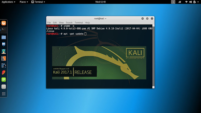 Update Repository Kali Linux 2017.1