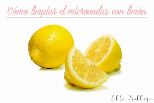 Cómo limpiar el microondas con limón