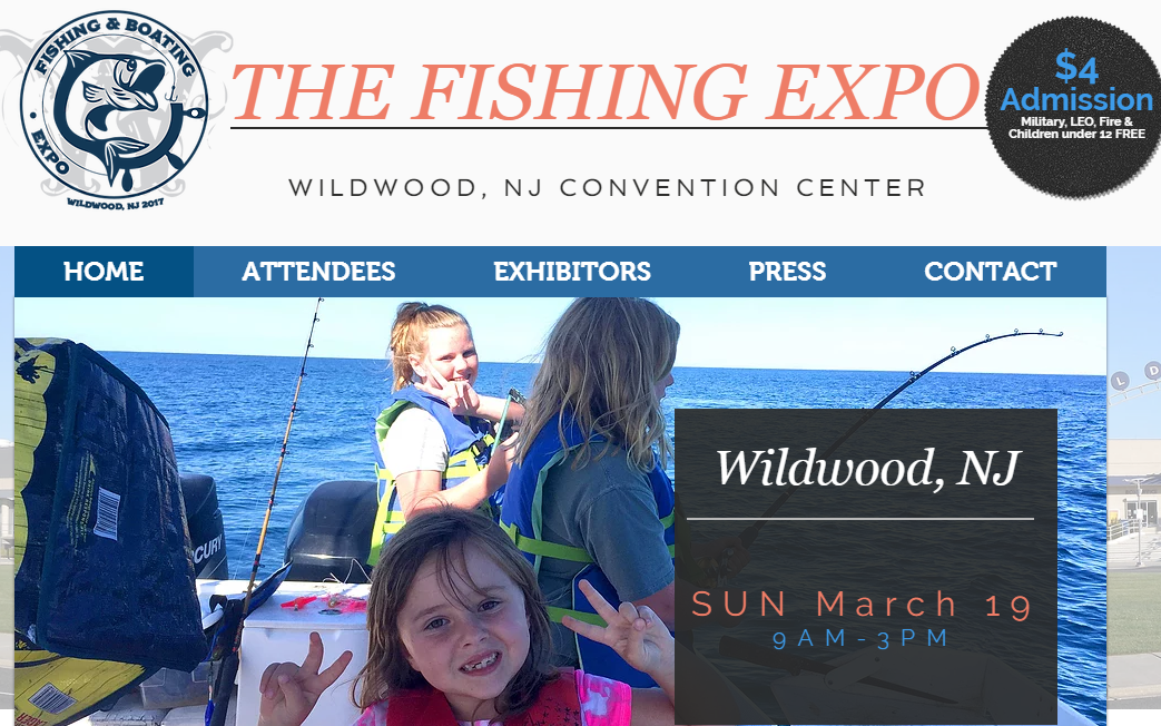 The mid atlantic sportsman upcoming tackle shows for Wildwood nj fishing charters