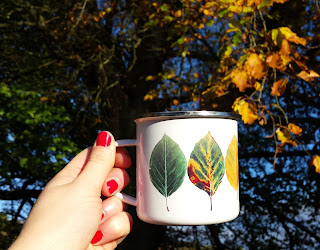 Enamel Leaves mug by Alice Draws The Line