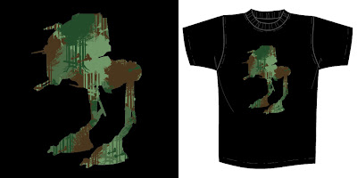 "Star Wars x Super7 T-Shirt Collection Series 1 - ""Camo Walker"" by Brian Flynn"