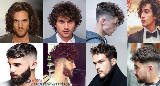 model rambut pria keriting