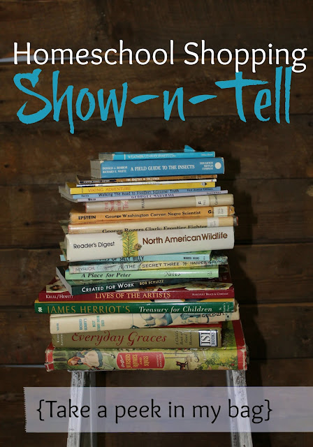 Homeschool Shopping Show-n-Tell 2016-come take a peek into my shopping bag