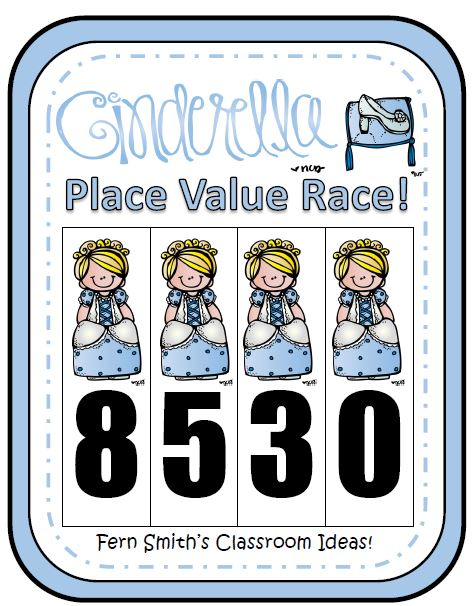 Fern Smith's Classroom Ideas Place Value Race Game Cinderella Theme