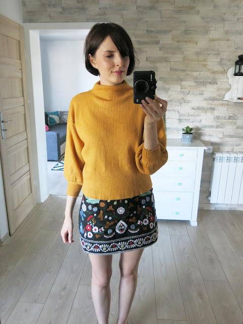 Sweterek z szerokimi rękawkami | ZAFUL | puff sleeve sweater ♥