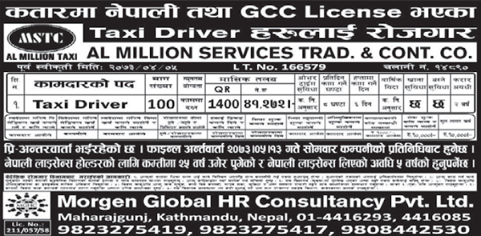 Free Visa, Free Ticket Jobs For Nepali In Qatar Salary- 41,272/