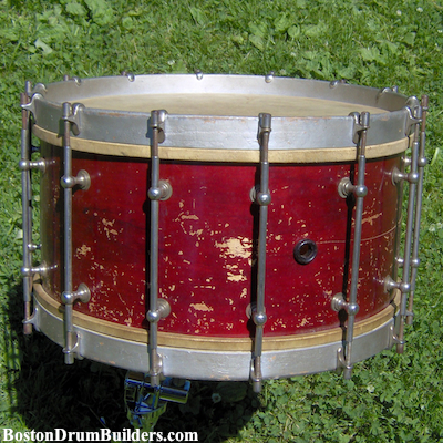 1910s Stone & Son Band Drum Before Restoration
