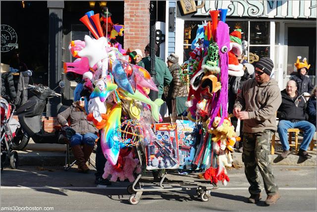 Venta Ambulante en el Desfile de Acción de Gracias de Plymouth