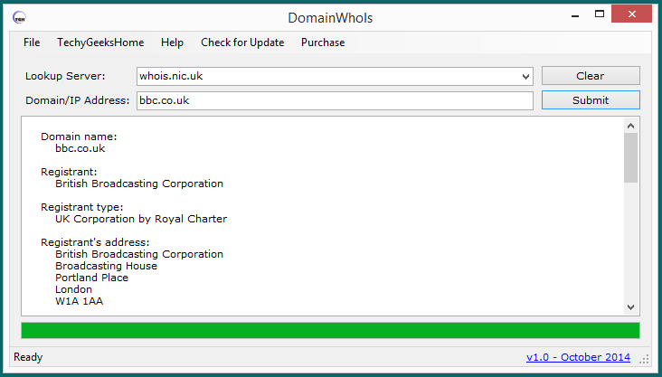 DomainWhoIs version 1.0 Released - Domain Who Is Lookup Tool 3