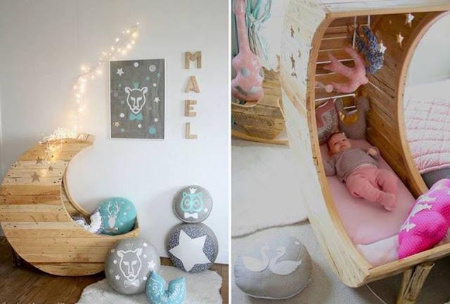 Handmade baby bed