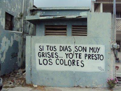 si tus días son muy grises, yo te presto los colores, colores de Fuentespalda