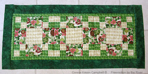 adding the final border for the table runner tutorial