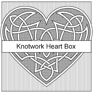 knotwork heart printable boxes in 4 colors