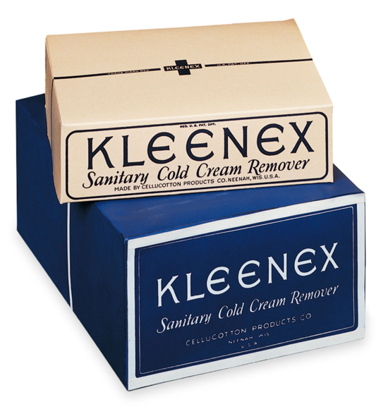 Kleenex, early packages 1924