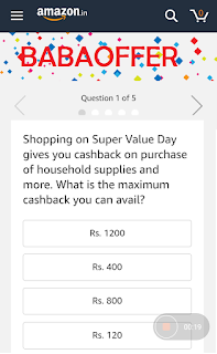 Answer of Super Value Quiz