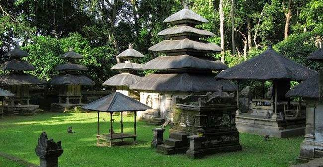 Bali is a megalithic sacred Hindu temple relics of ancient times Alas Kedaton Temple - Bali, Republic of Indonesia Tourist Attraction