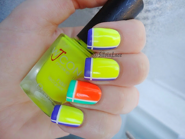 Silvia Lace Nails: Neon Tape Manicure