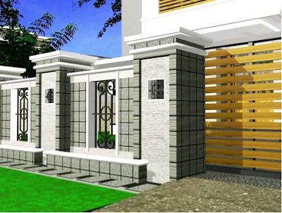 pagar untuk rumah minimalis