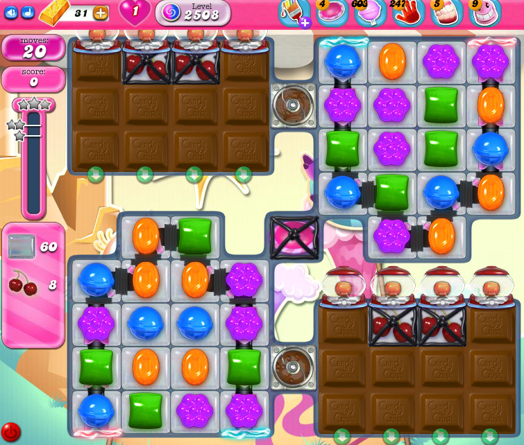 Candy Crush Saga level 2508