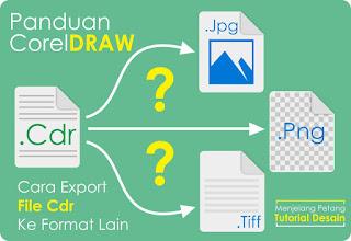 Cara Export file .CDR ke Format Lain