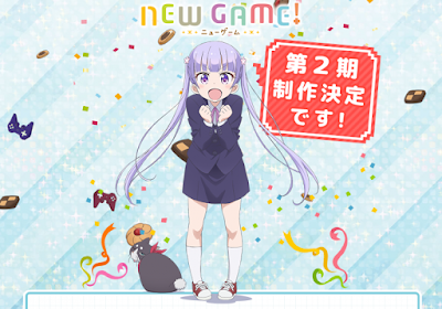 "segunda temporada de ""New Game!""."