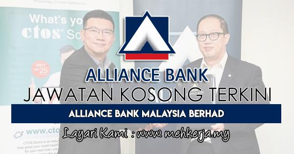 Jawatan Kosong Terkini 2018 di Alliance Bank Malaysia Berhad