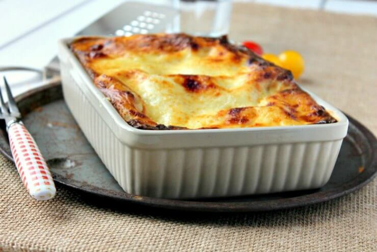 Pork, Spinach and Mushroom Lasagne