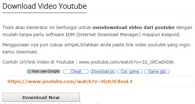 Cara Download Vidio Youtube Tanpa Bantuan Aplikasi Atau Software