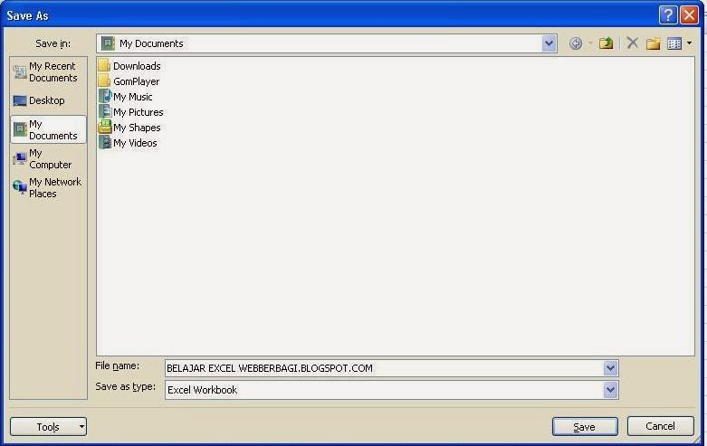 Kotak Dialog Save As Microsoft Excel