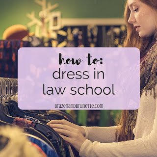 What law students actually wear to class and what to wear to law school. What clothes to buy for law school. What to wear to a law class. Do you need a suit for law school. What do people wear to law school. Capsule wardrobe for a student budget. Law school outfit ideas. Law school outfit inspiration. How to dress in law school. law school blog. law student blogger | brazenandbrunette.com