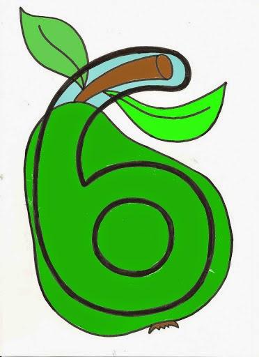 número seis pera