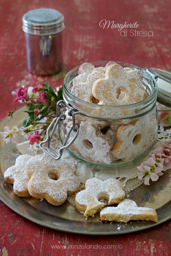 Ricetta biscotti canestrelli friabili con uova sode margherite di stresa fiore recipe cookies flower