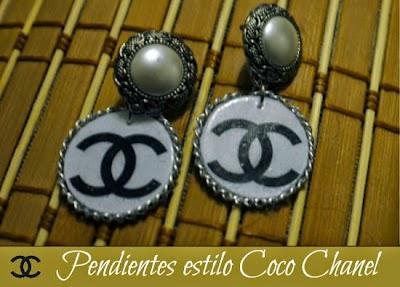 Como hacer unos Pendientes de Coco Chanel