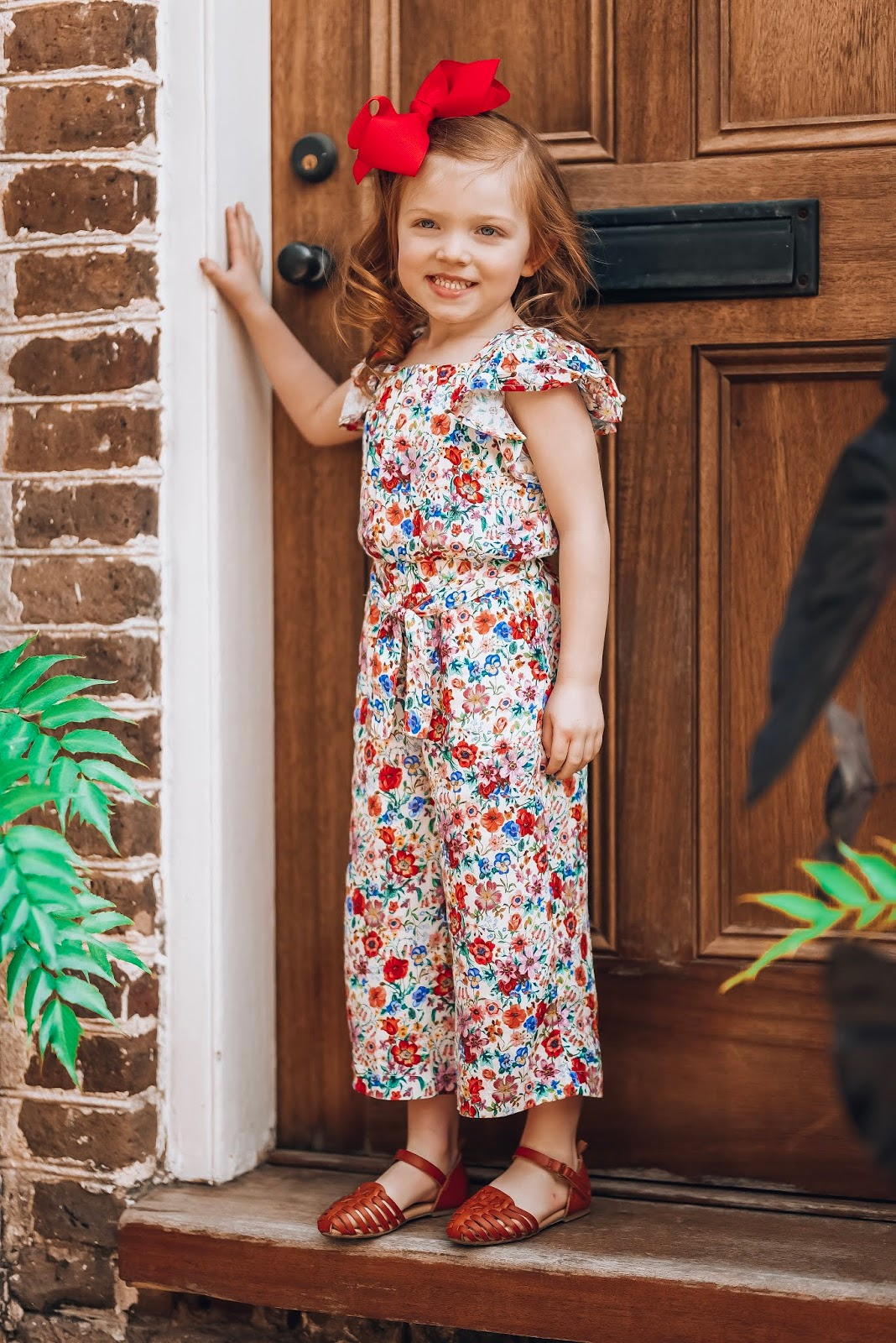 H&M Girls Floral Jumpsuit in Charleston - Something Delightful Blog #springstyle