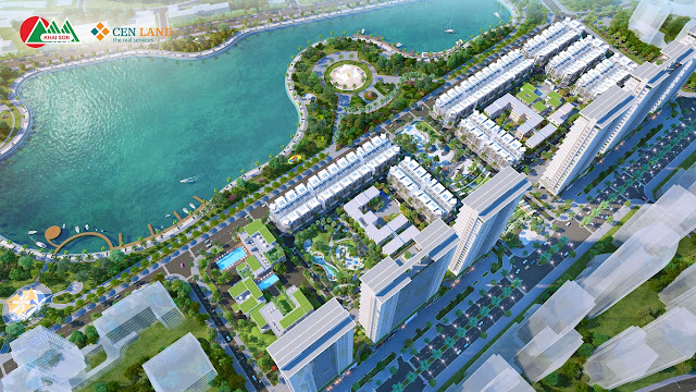 Khai Sơn Town nằm bên hồ điều hòa 20ha