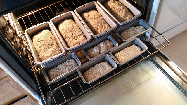 Shaped and ready to rise, before baking.