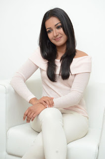 Catherine Tresa Stills in White Jeans at Sarrainodu Interview ~ Celebs Next