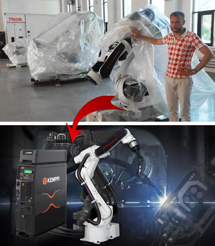 Интегрированный робототехнический сварочный комплекс Kawasaki BA006L + Kemppi A7 MIG Welder