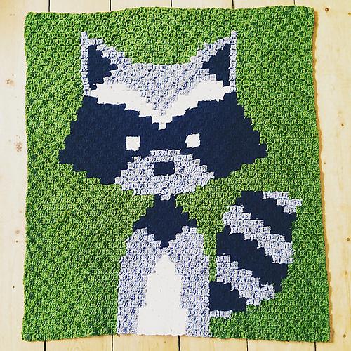 C2C Racoon Baby Blanket - Free Pattern