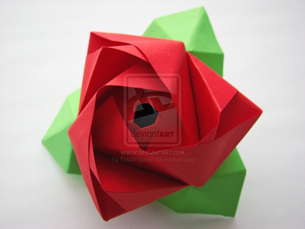 Origami Rose Box Cube