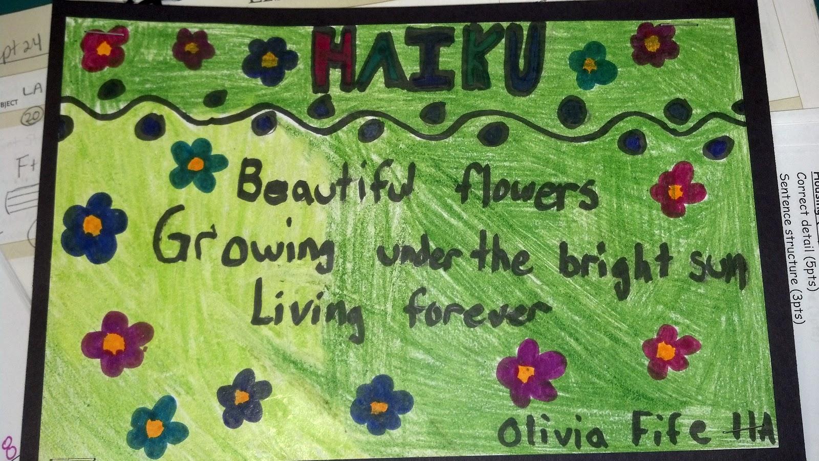 Haiku Poems By High School Students