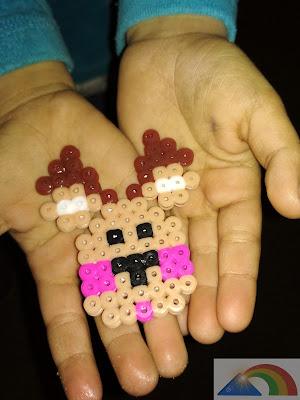 Reno hecho con hama beads terminado