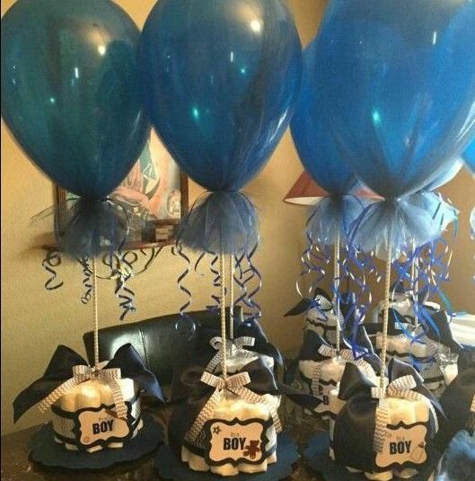 Mi Fiesta Creativa: Centros De Mesa Con Globos Para Un Baby Shower