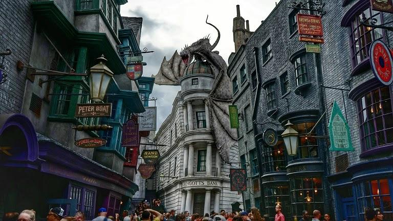 Atrações do Harry Poter no complexo Universal