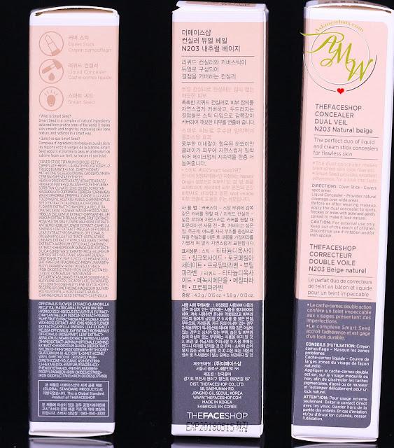 a photo of The Face Shop Dual Veil Concealer