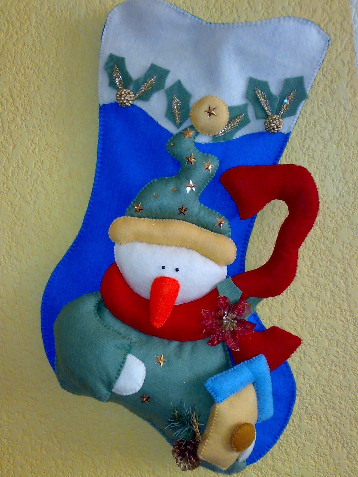 Bota Navidena De Papa Noel Manualidades En Goma Eva Y Foami