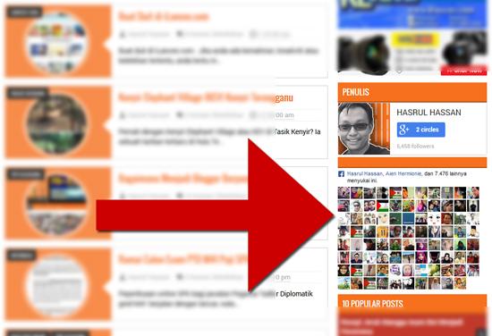 Cara paparkan kekuatan fanpage blog