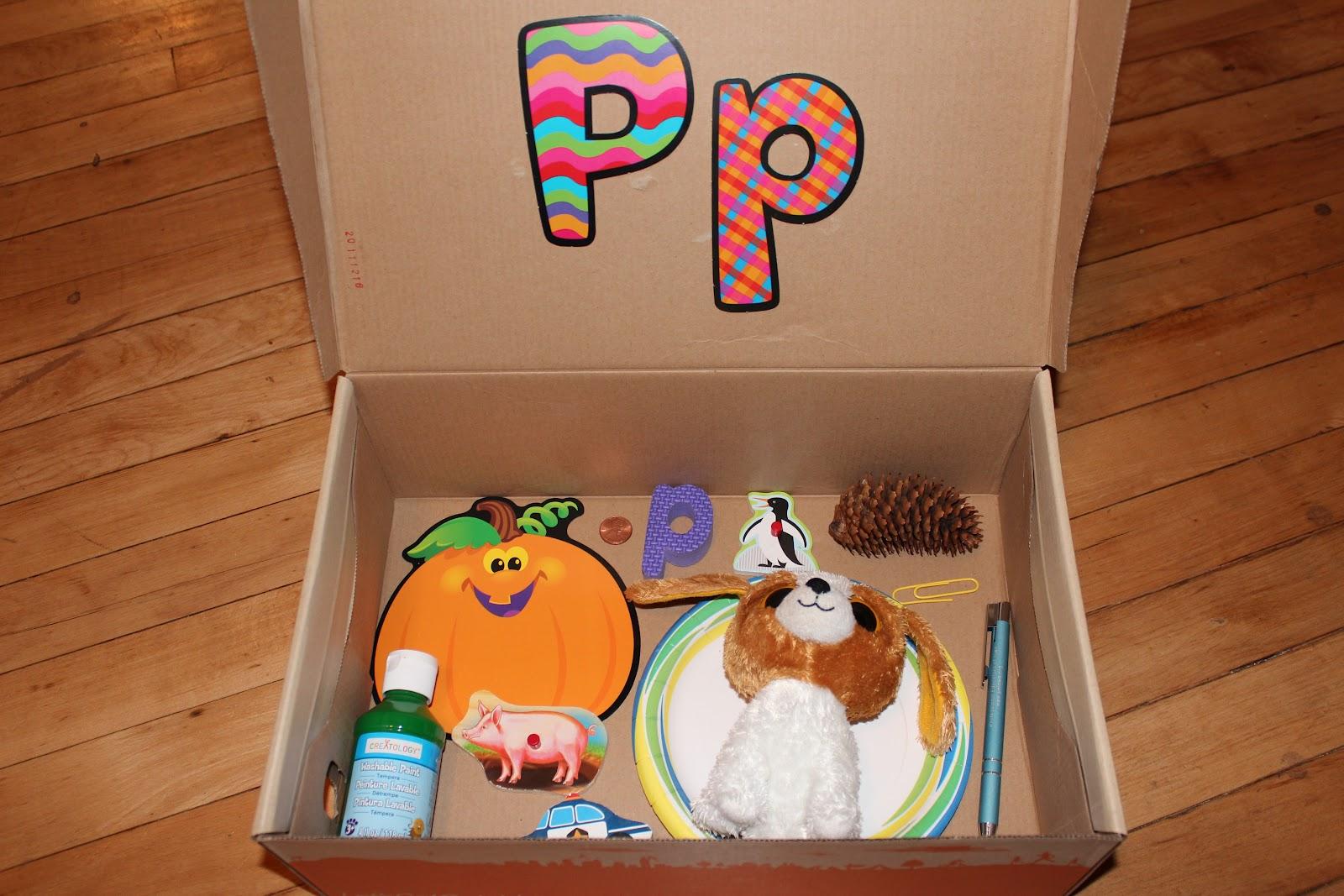 Letter P Alphabet Box Amp Sensory Bin