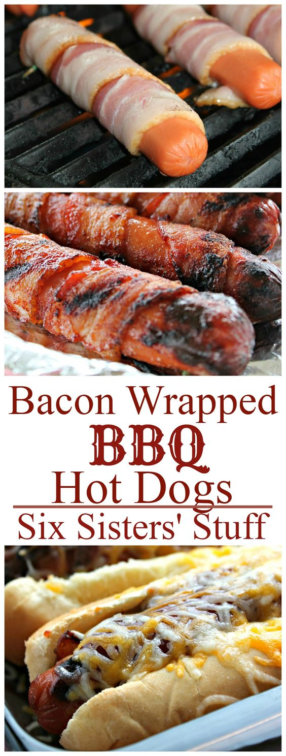BBQ BACON WRAPPED HOT DOGS
