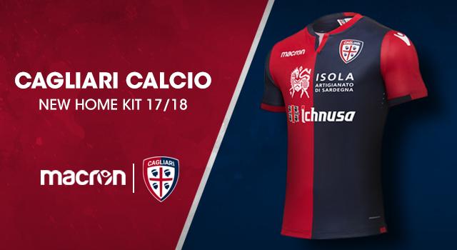 5c1bceaf75264b Cagliari Calcio e Macron kit home 2017/2018: una maglia nel segno della  tradizione